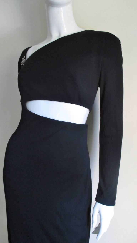 Gianni Versace Mesh & Hardware Cutout Dress 2
