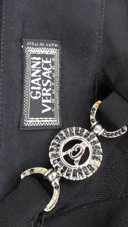 Gianni Versace Mesh & Hardware Cutout Dress 10