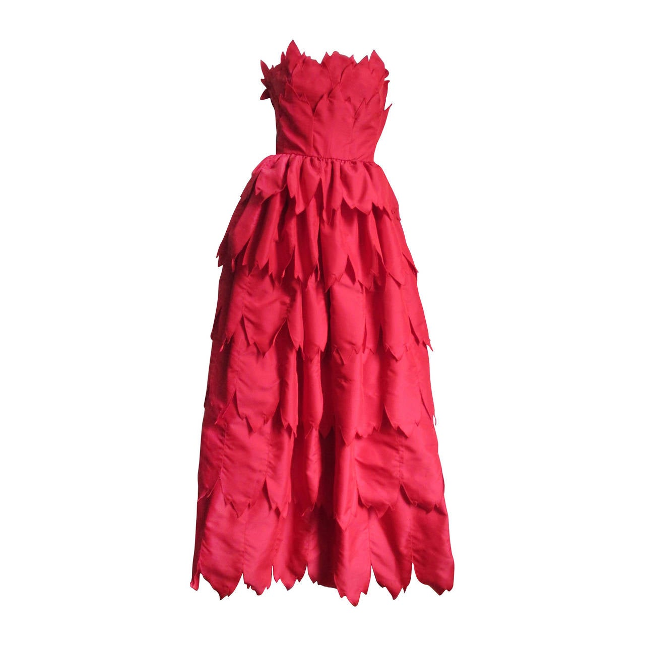 Vintage Travilla ' Flames ' Gown 1