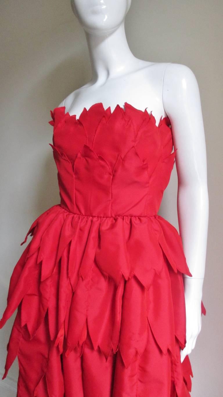 Vintage Travilla ' Flames ' Gown 3