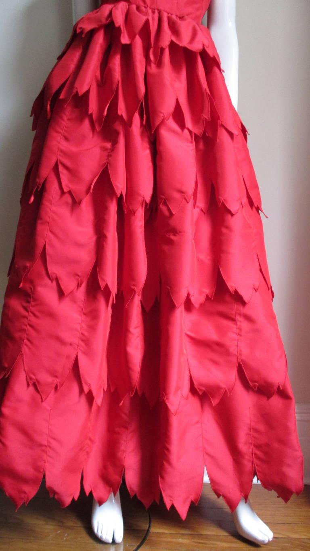 Vintage Travilla ' Flames ' Gown 5