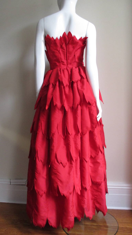 Vintage Travilla ' Flames ' Gown 9