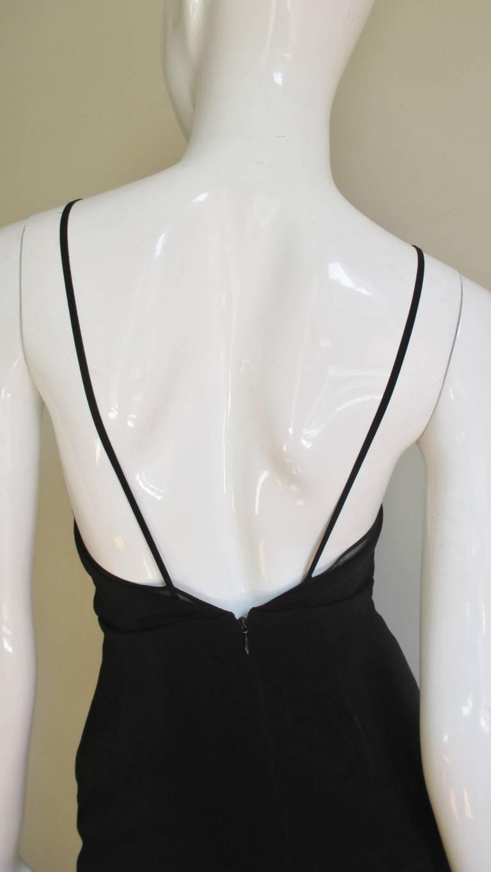 karl lagerfeld plunge dress for sale at 1stdibs. Black Bedroom Furniture Sets. Home Design Ideas