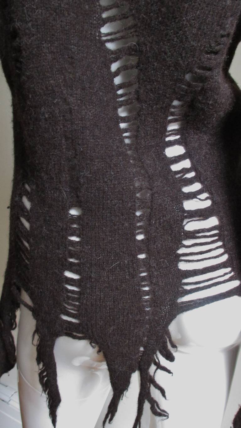 Comme des Garcons  Distressed Sweater 5