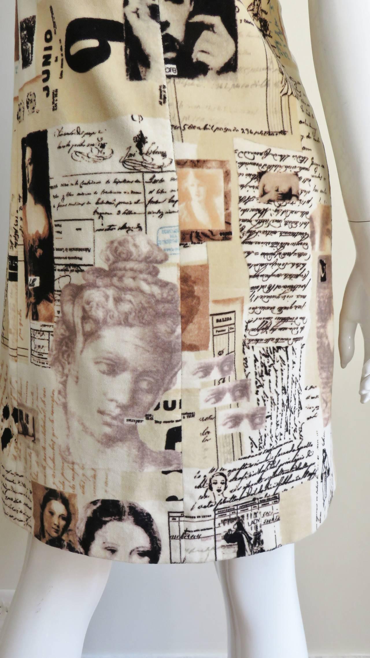 Moschino Photo Screen Print Dress 8