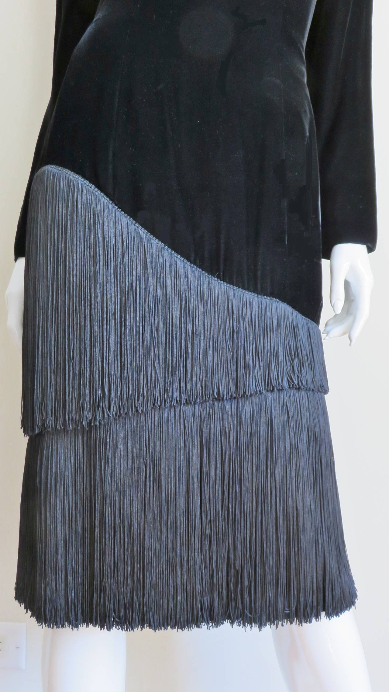 1980S Lanvin Fringe Dress 3