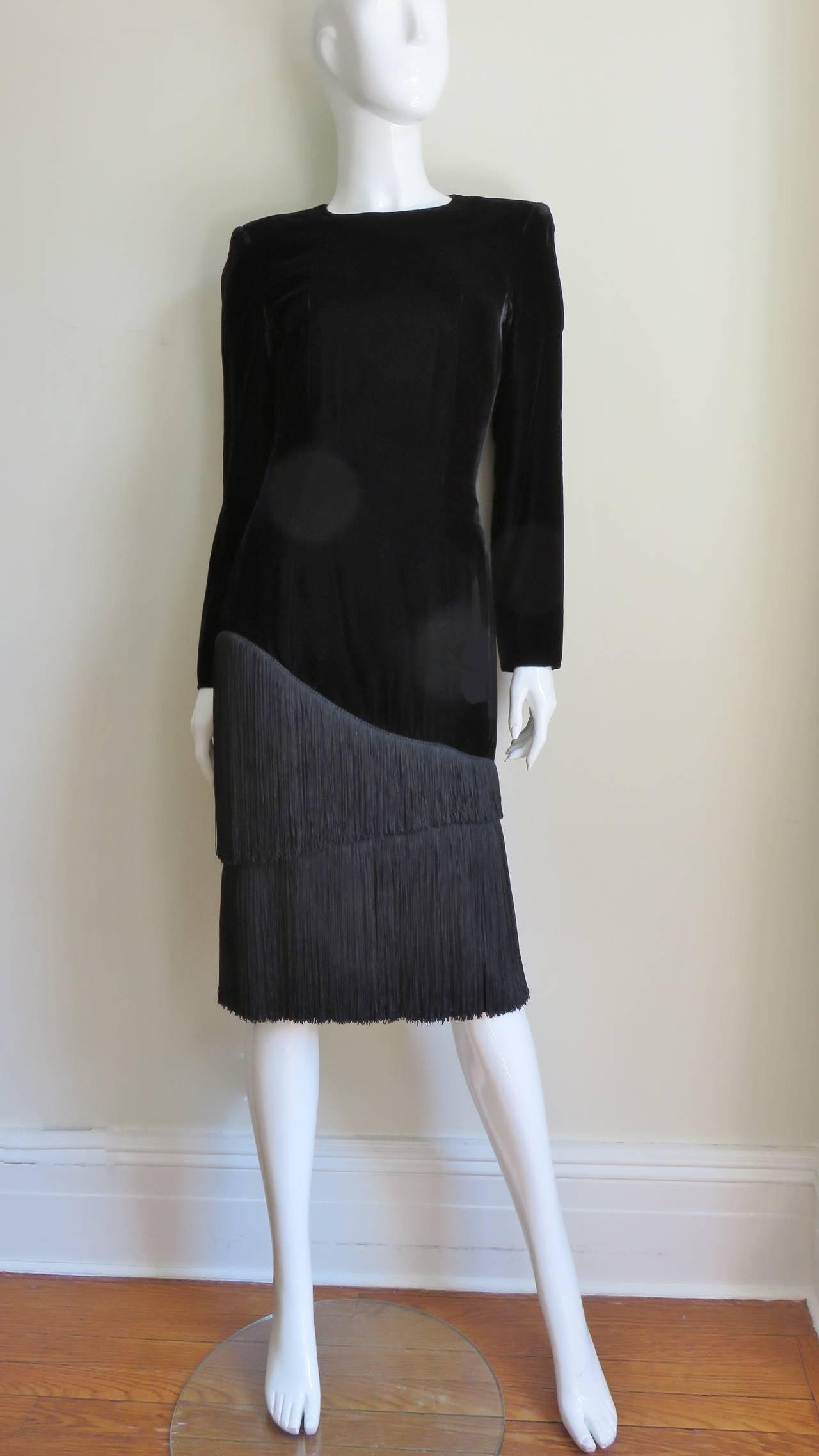 1980S Lanvin Fringe Dress 5