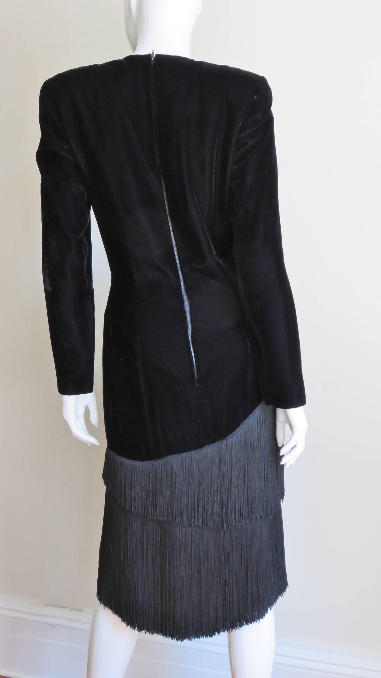 1980S Lanvin Fringe Dress 6
