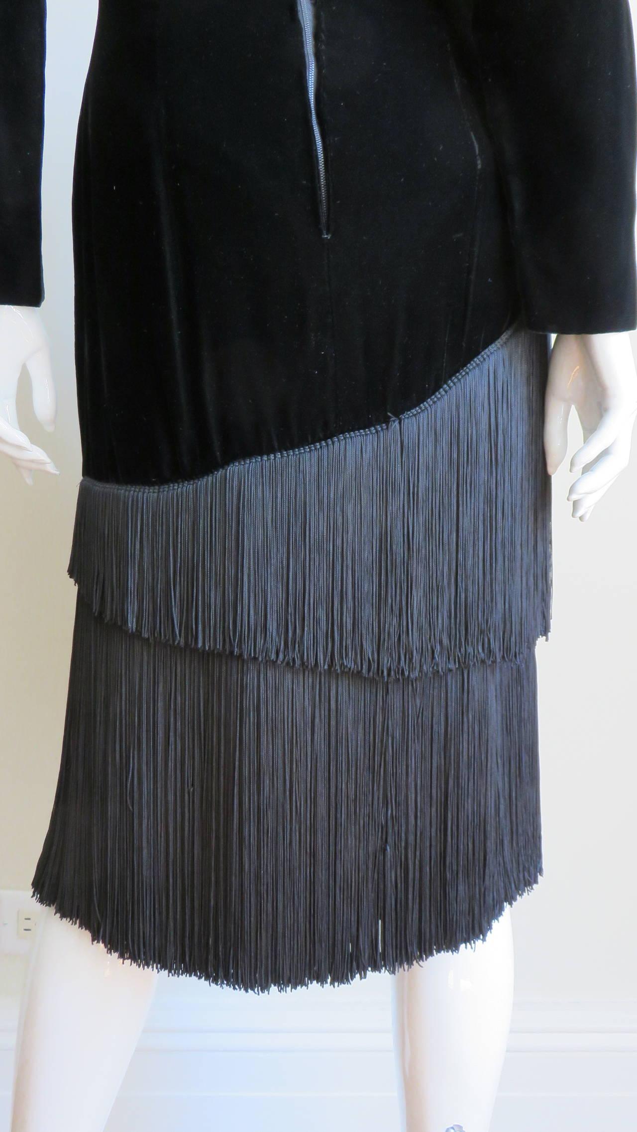 1980S Lanvin Fringe Dress 7