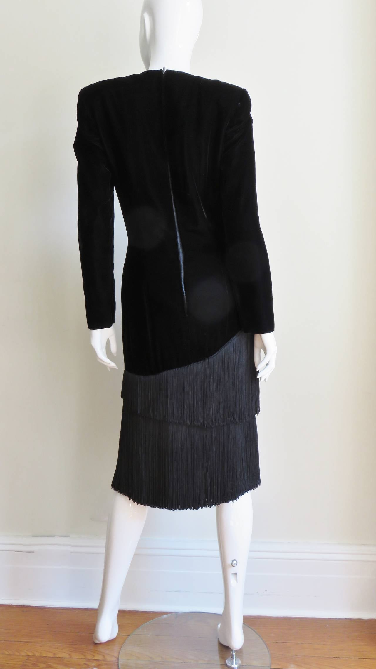 1980S Lanvin Fringe Dress 8