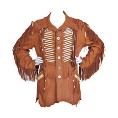 1970s Hand Made Leather Fringe Mahopa Jacket