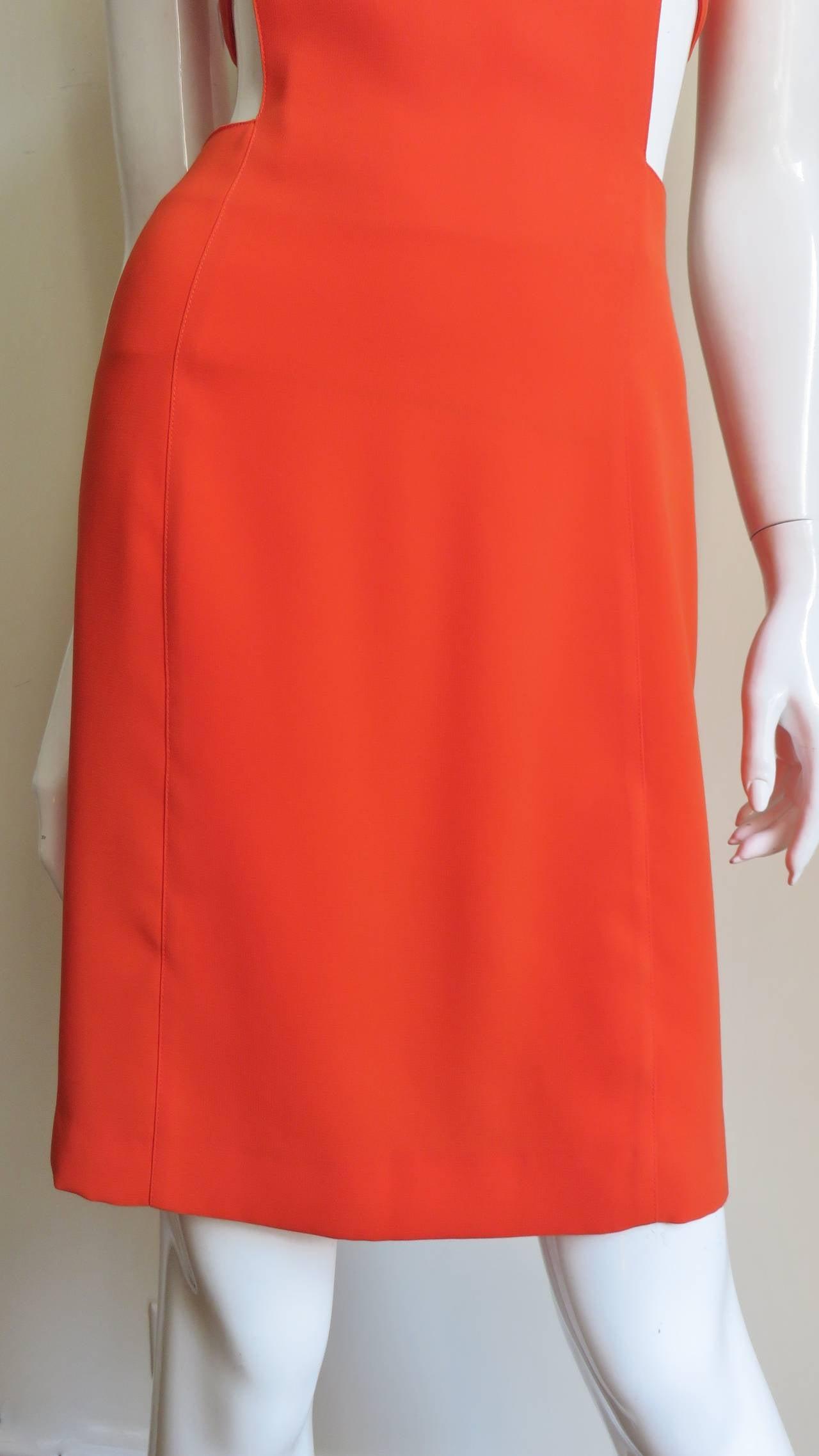 1990s Thierry Mugler Dress With Cutout Waist 3