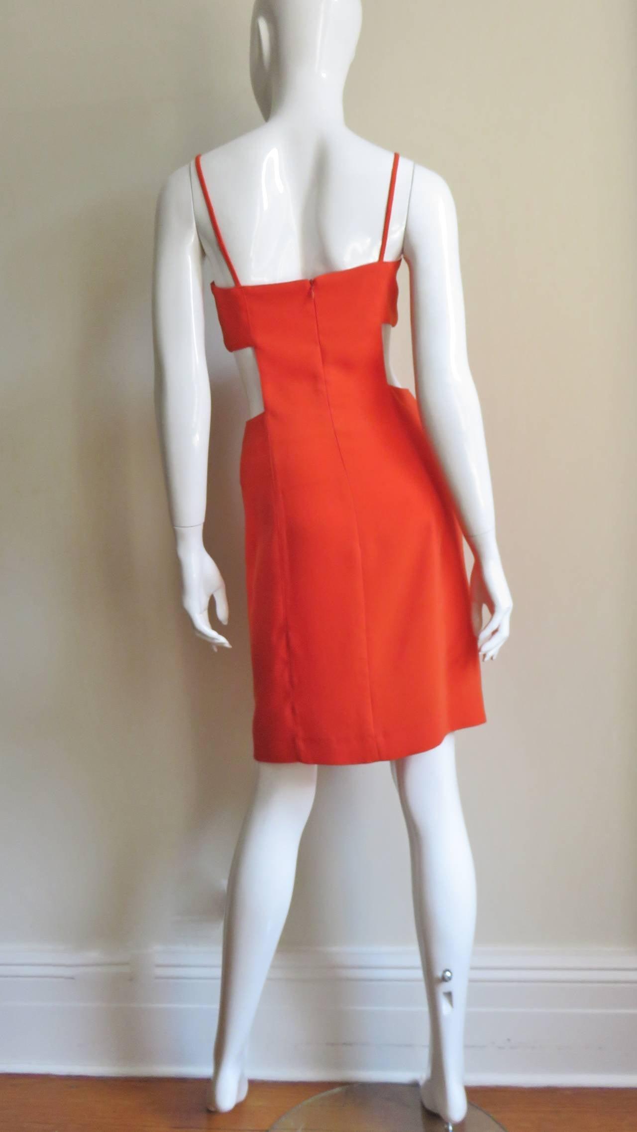 1990s Thierry Mugler Dress With Cutout Waist 9