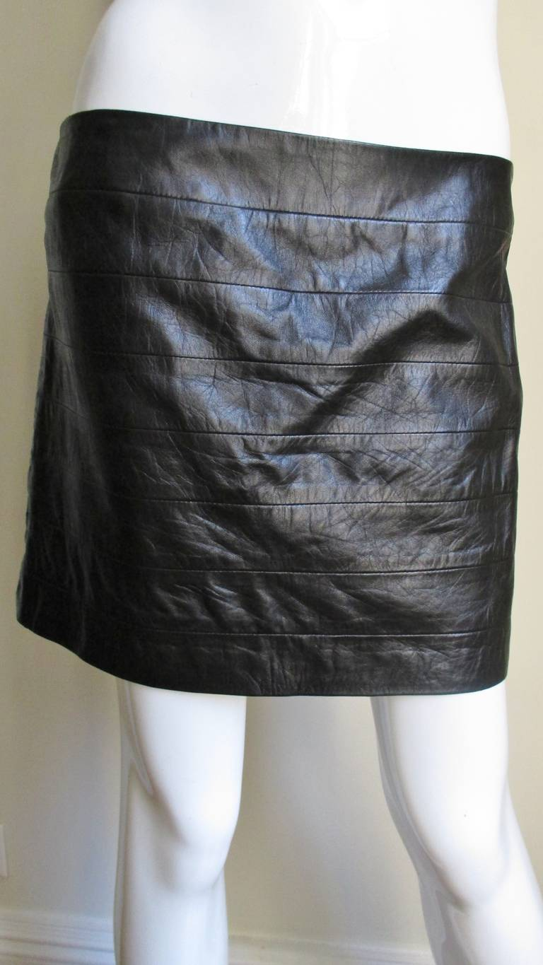 vintage gianni versace cutout leather skirt at 1stdibs