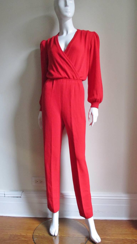 Vintage Gianni Versace Plunge Knit Jumpsuit 8