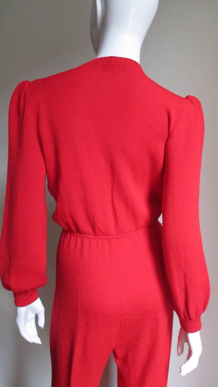 Vintage Gianni Versace Plunge Knit Jumpsuit 6
