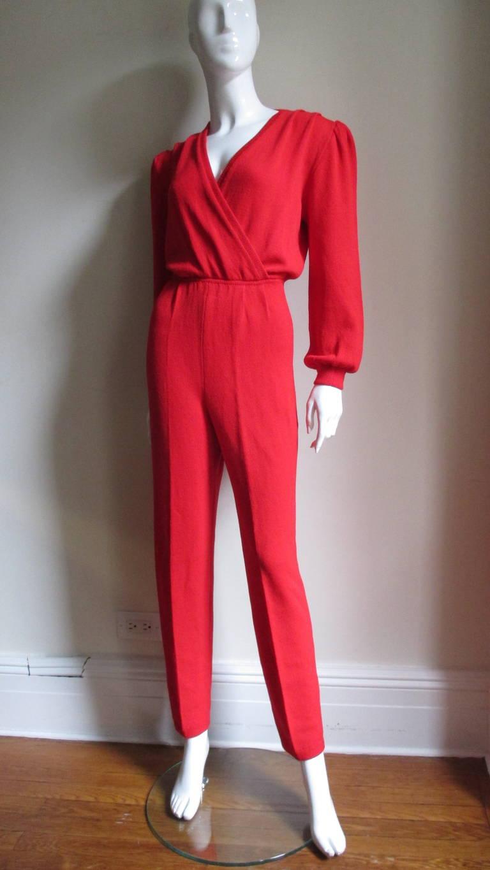 Vintage Gianni Versace Plunge Knit Jumpsuit 4