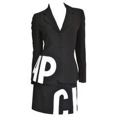 1990s Moschino ' CHEAP ' &  ' CHIC ' Applique Skirt Suit