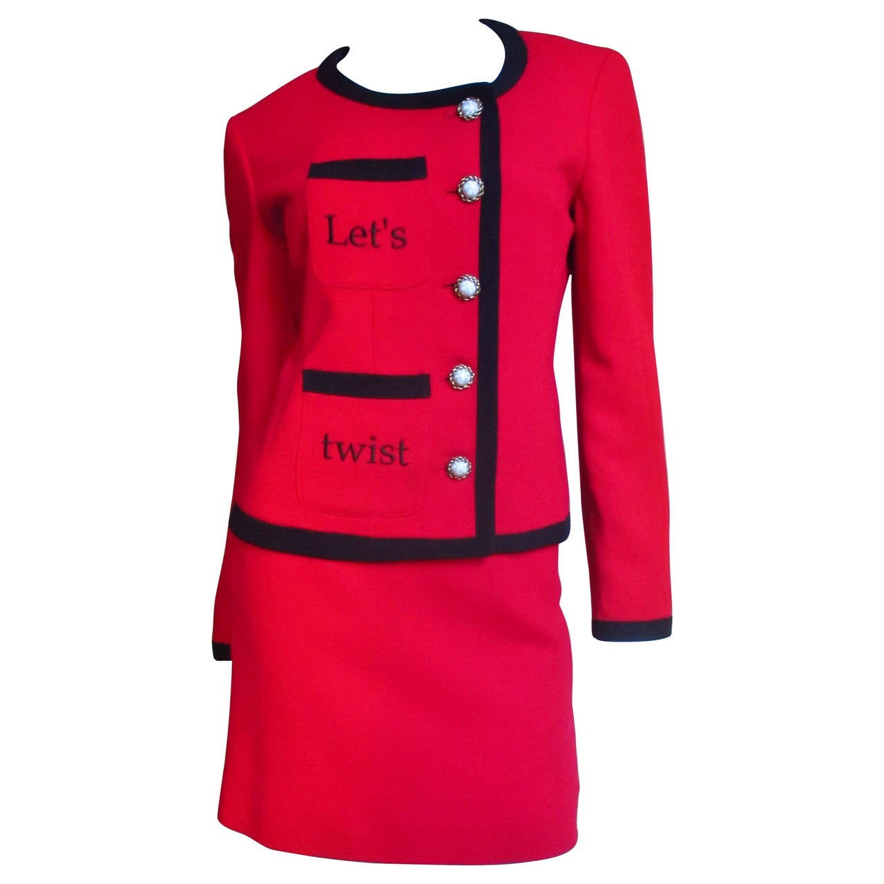 Moschino ' Let's Twist Again! ' Skirt Suit