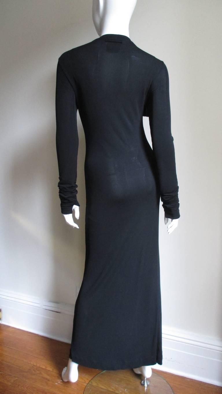 1990s Jean Paul Gaultier Maxi Dress For Sale 3