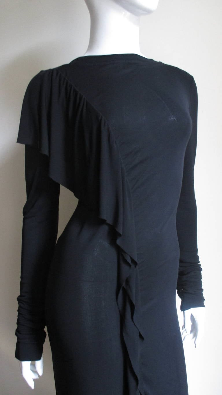 Black 1990s Jean Paul Gaultier Maxi Dress For Sale