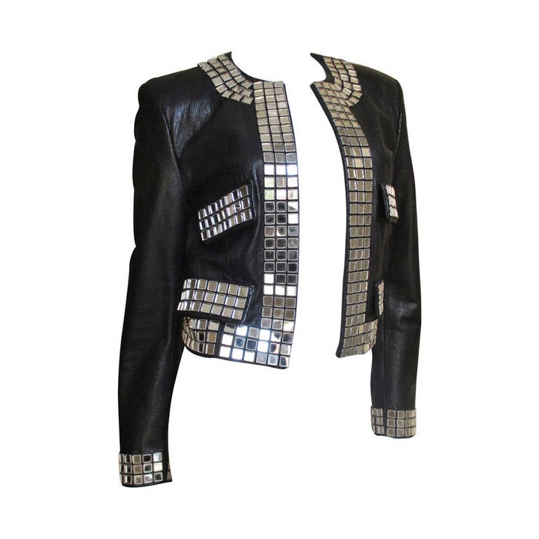 "Moschino "" Mirrors "" Leather Jacket 1"