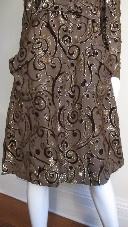 1970's Pauline Trigere Belted Silk Tent Dress 5