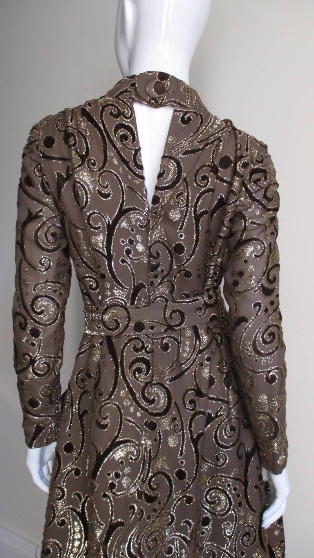 1970's Pauline Trigere Belted Silk Tent Dress 7