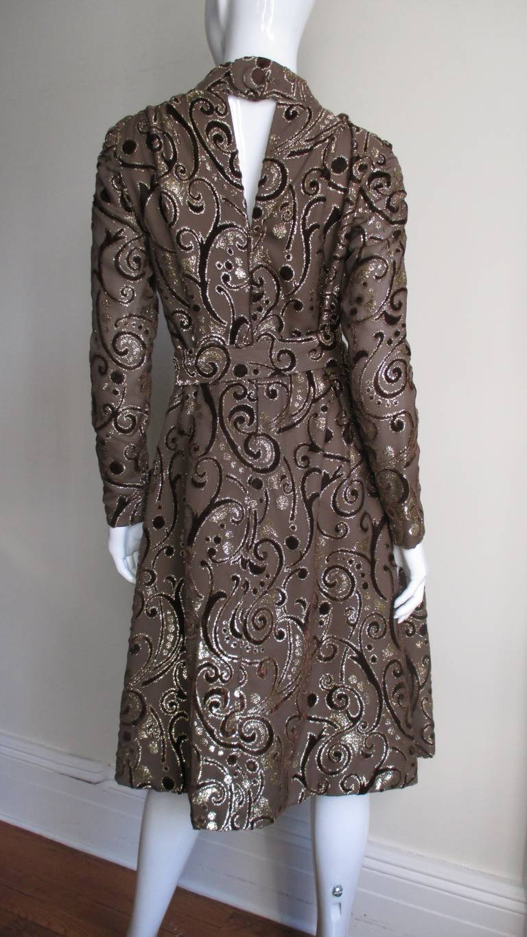 1970's Pauline Trigere Belted Silk Tent Dress For Sale 4
