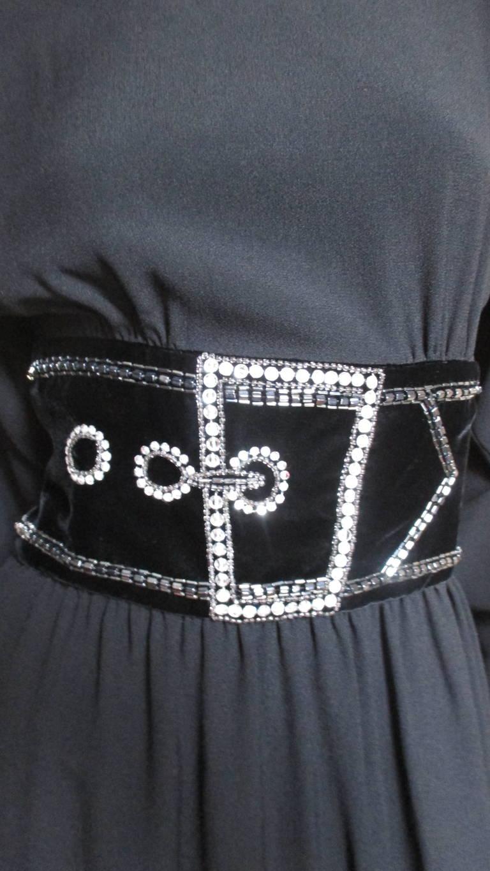 Vintage Bob Mackie Trompe L'oeil Belt Dress 3