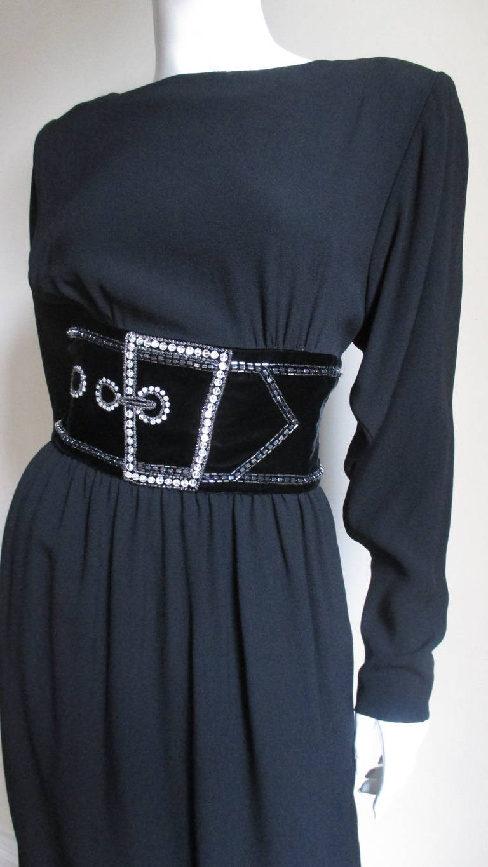 Vintage Bob Mackie Trompe L'oeil Belt Dress 2