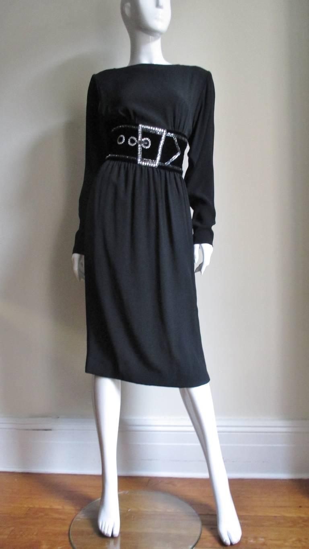 Vintage Bob Mackie Trompe L'oeil Belt Dress 4