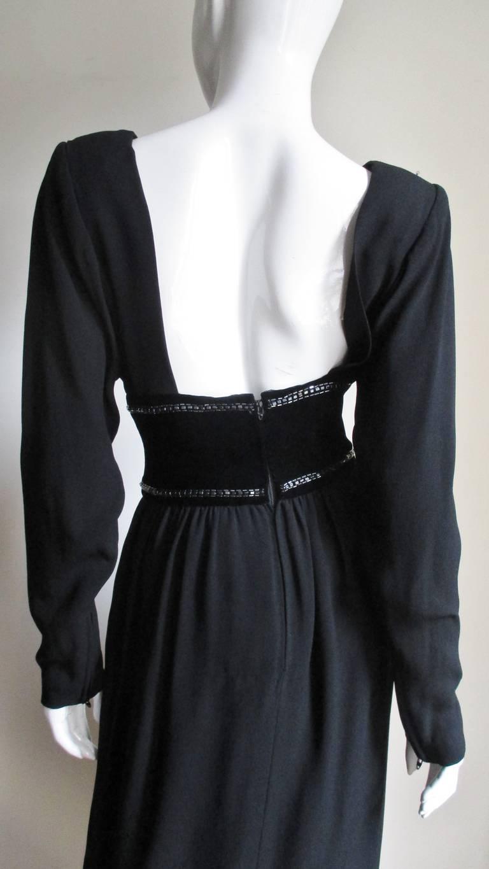 Vintage Bob Mackie Trompe L'oeil Belt Dress 6