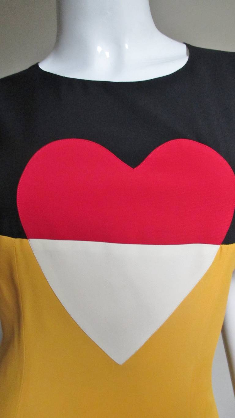 Moschino Couture Color Block ' Heart ' Dress 3