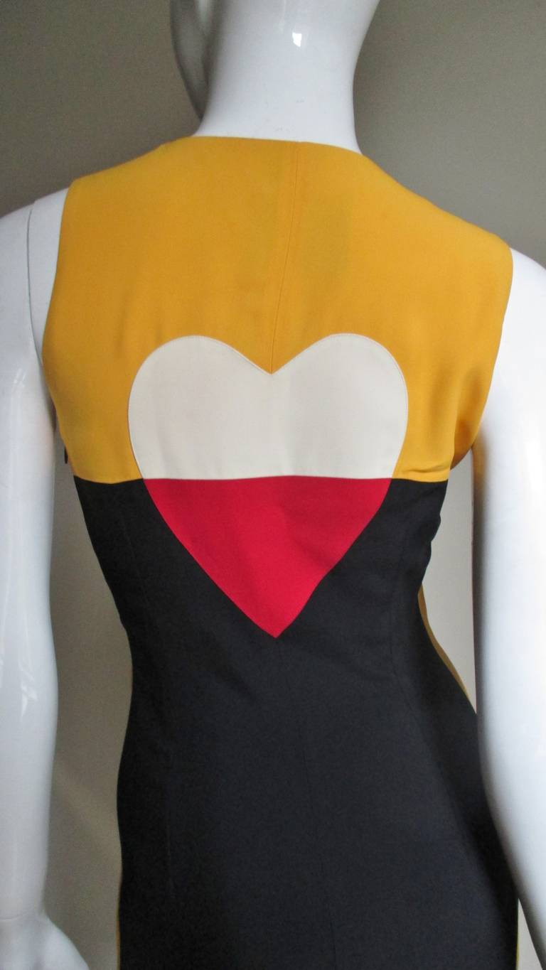 Moschino Couture Color Block ' Heart ' Dress 6