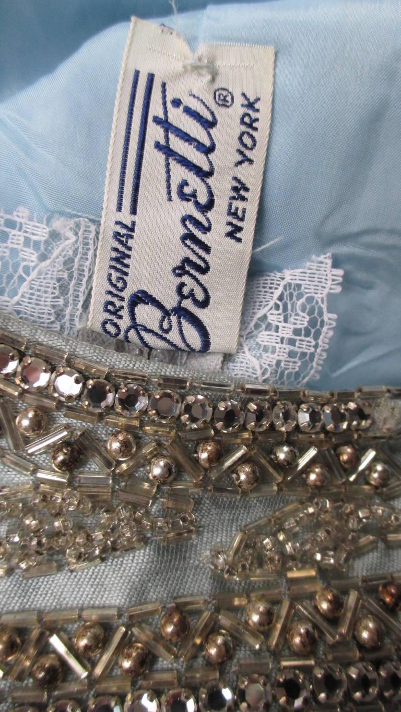 1960's Bernetti Beaded Cutout Silk Dress 10