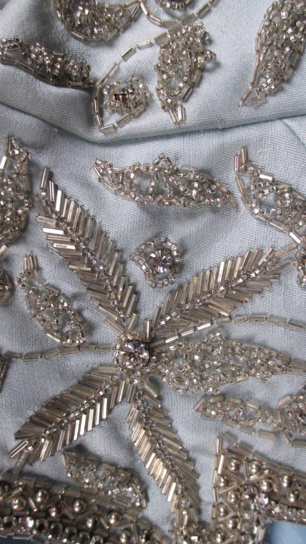 1960's Bernetti Beaded Cutout Silk Dress 9