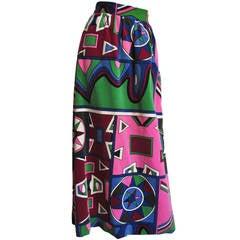 1960's Mignon Mod Maxi Skirt