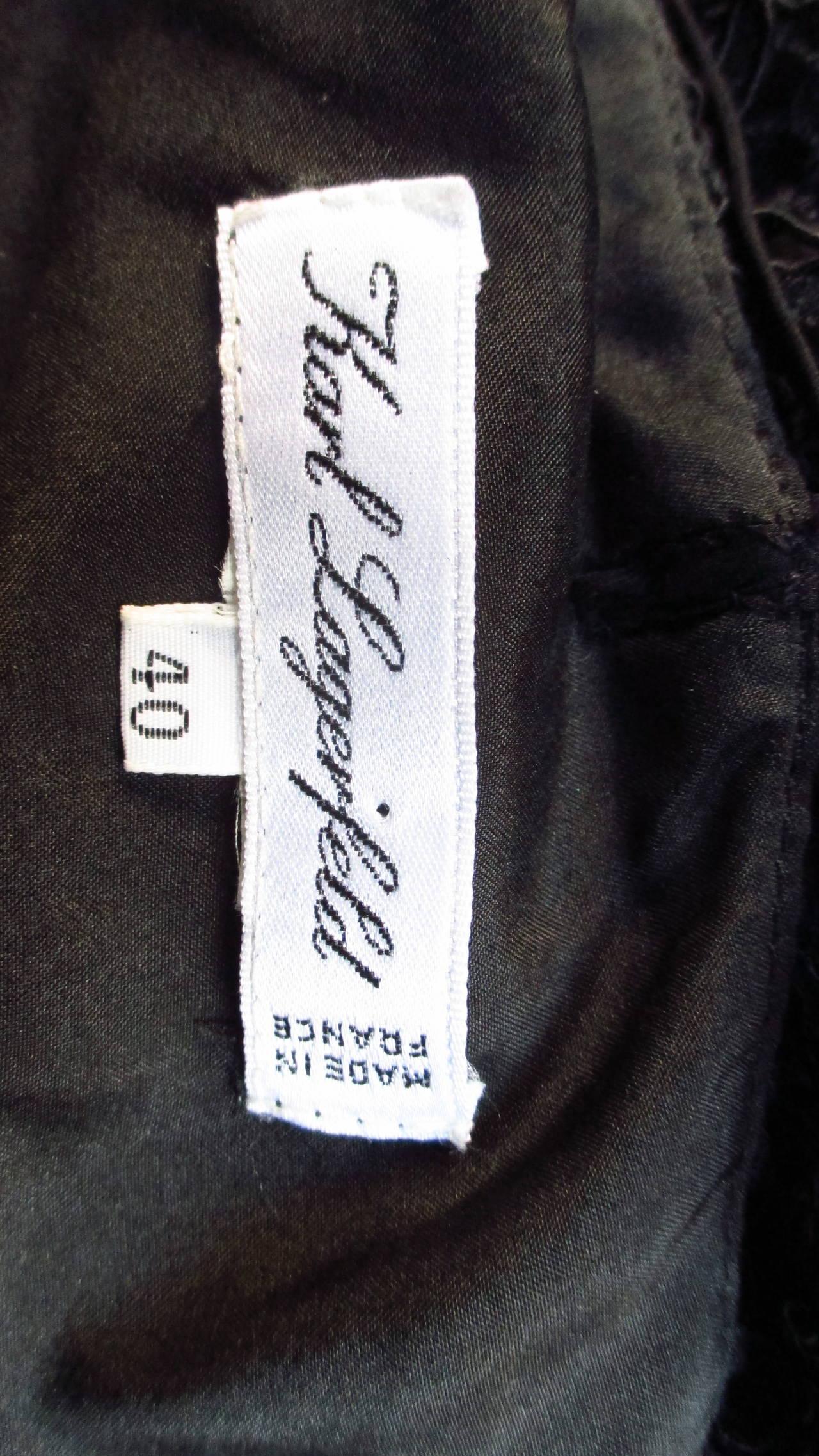 Karl Lagerfeld Silk Lace Slip Dress For Sale 7