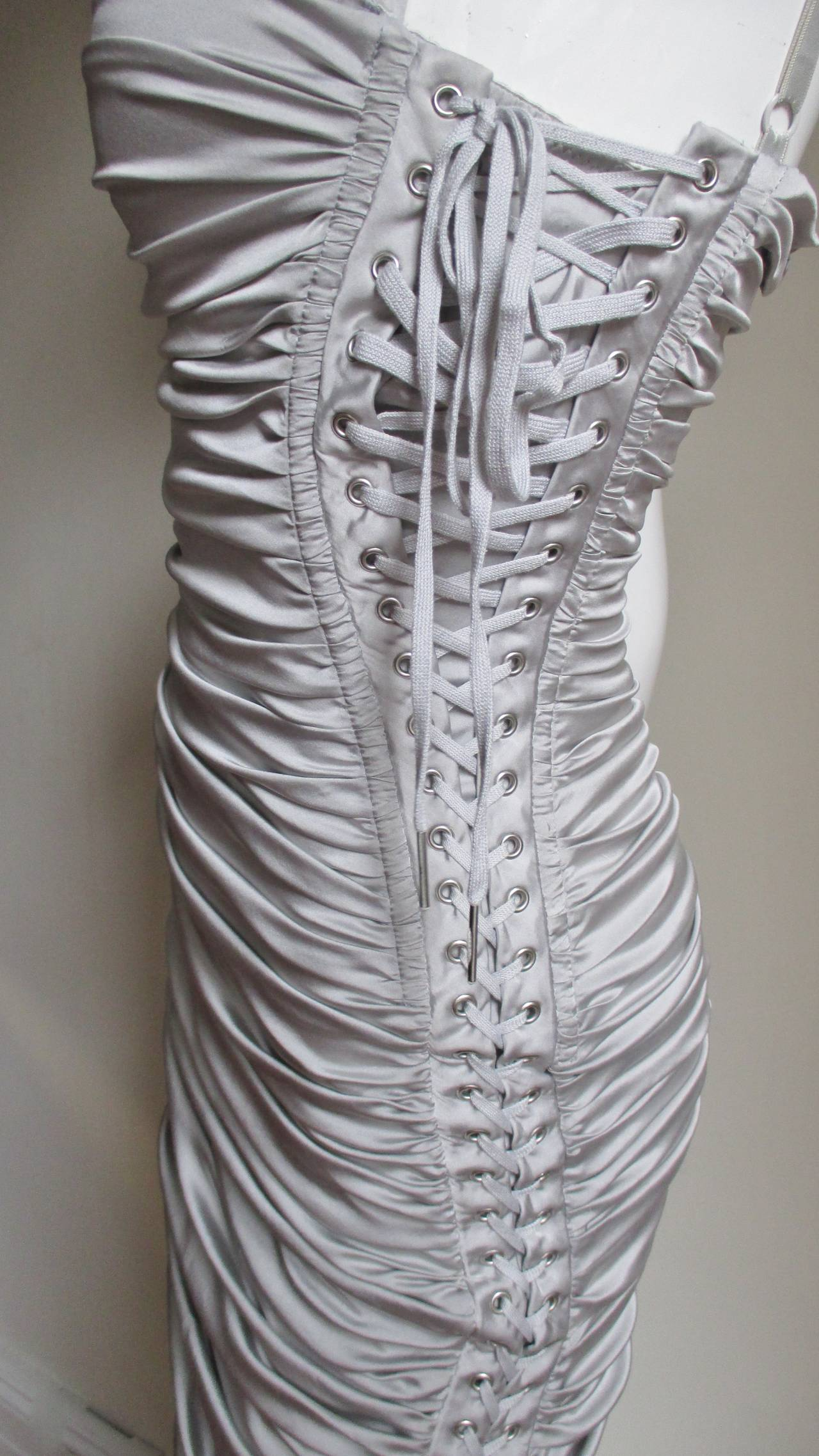 Women's Dolce & Gabbana Side Lace-up Bra Dress For Sale