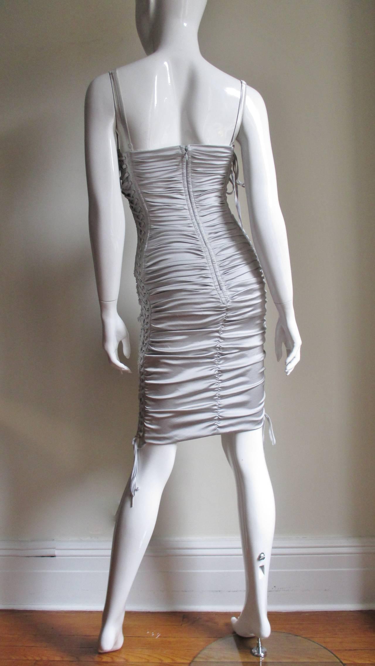 Dolce & Gabbana Side Lace-up Bra Dress For Sale 5