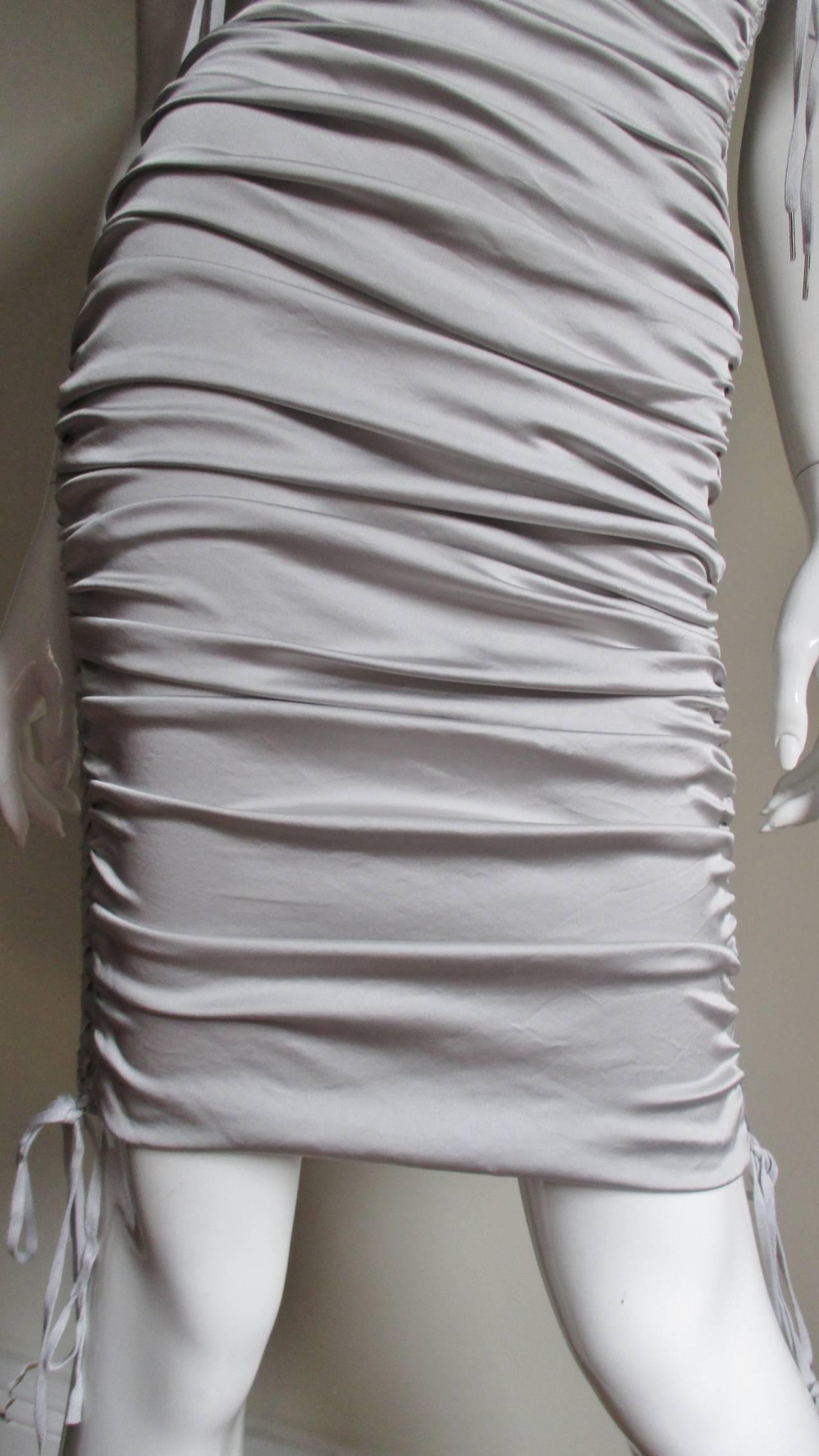 Dolce & Gabbana Side Lace-up Bra Dress For Sale 1