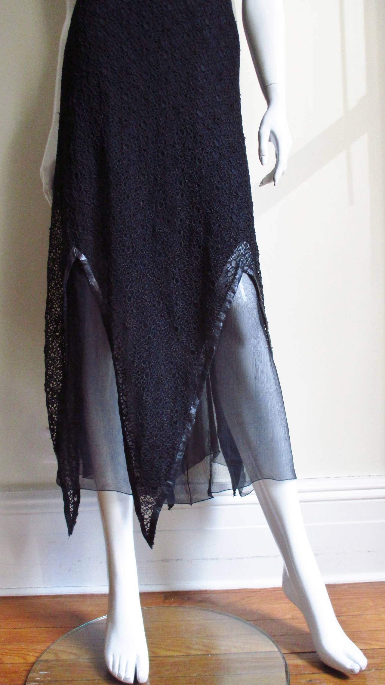 Karl Lagerfeld Silk Lace Slip Dress For Sale 1