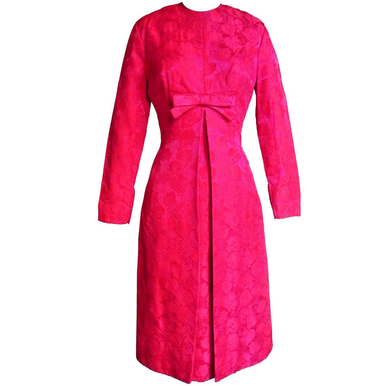 1950's Suzy Perette Damask Dress & Overdress