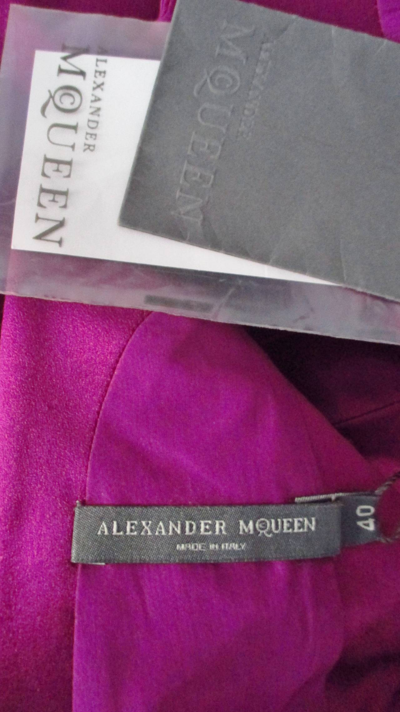 Alexander McQueen Silk Deep V Back Dress For Sale 5