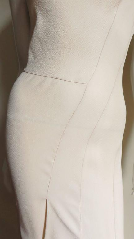 Christian Dior 1990s Blush Seam Detail Silk Gown In Excellent Condition For Sale In New York, NY