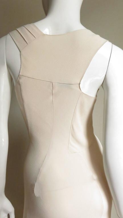 Christian Dior 1990s Blush Seam Detail Silk Gown For Sale 2