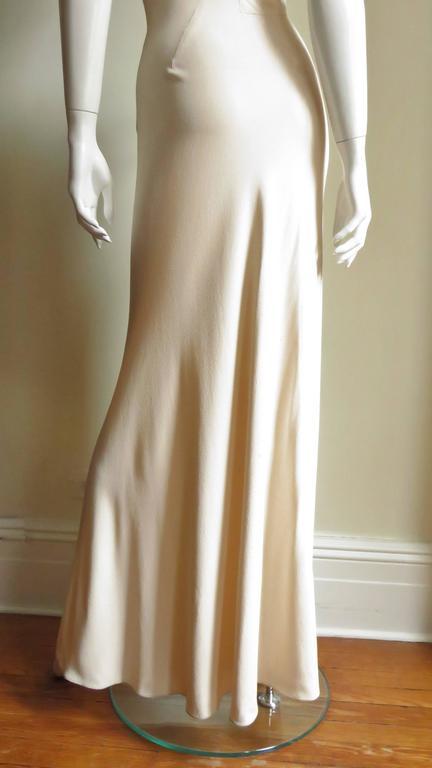 Christian Dior 1990s Blush Seam Detail Silk Gown For Sale 3