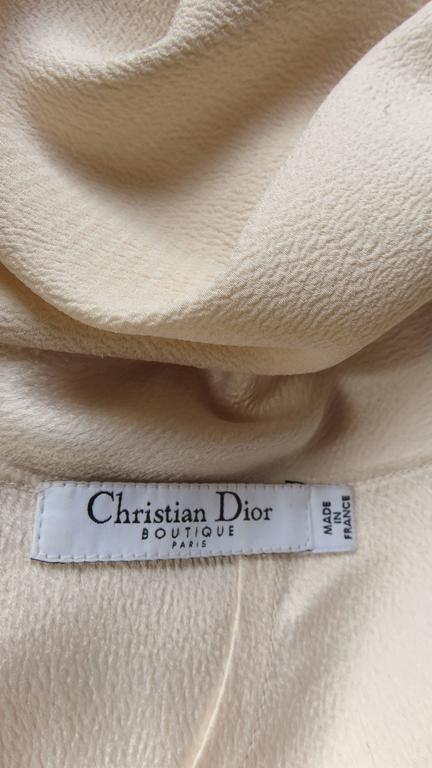 Christian Dior 1990s Blush Seam Detail Silk Gown For Sale 4
