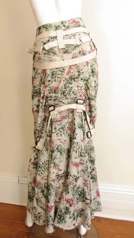 Tree bondage pleated skirt